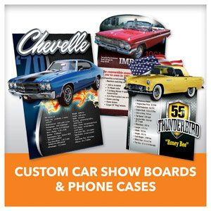 Custom Car Show Boards Cardboard Cutouts